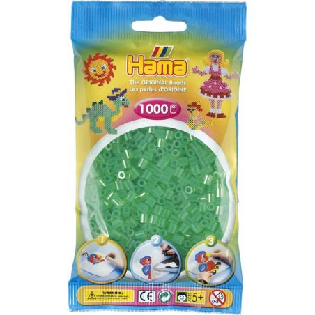 Bügelperlen transparent-grün, 1000Stk.