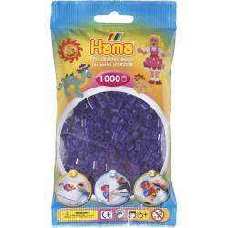 Bügelperlen transparent-lila, 1000Stk.
