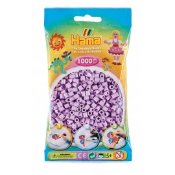 Bügelperlen pastell-flieder, 1000Stk.