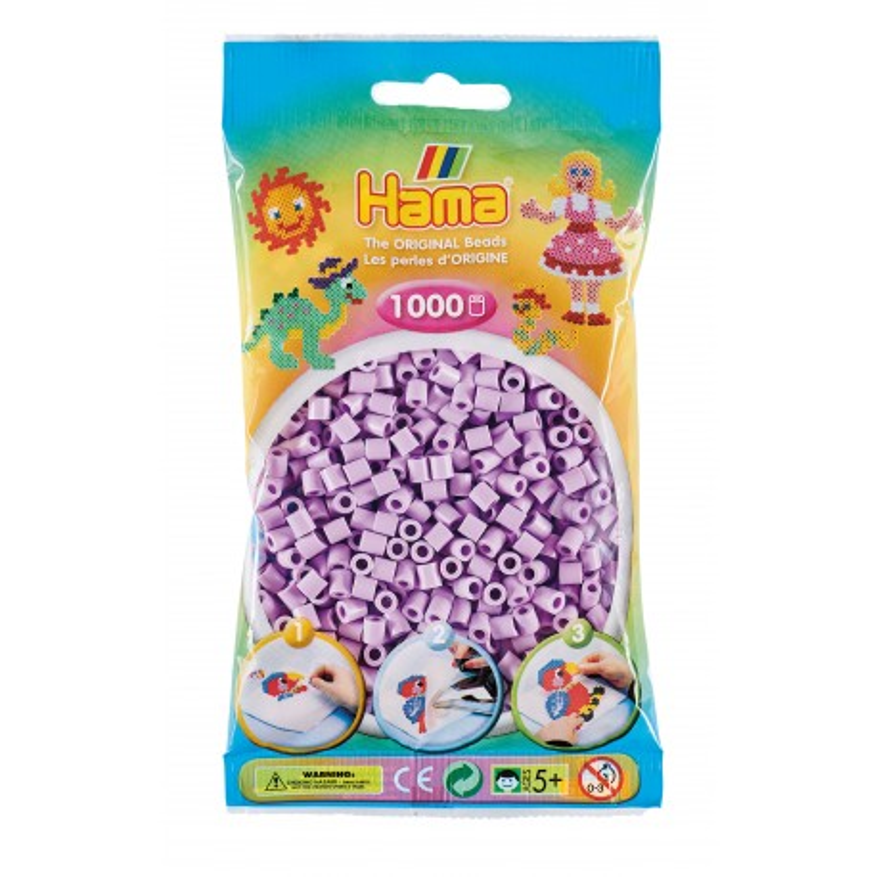 Bügelperlen pastell flieder, 1000Stk.