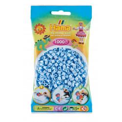Bügelperlen pastell-eisblau, 1000Stk.
