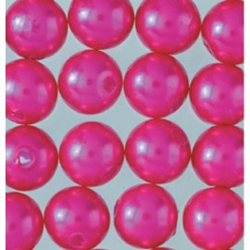 Wachsperlen, pink, Ø 3mm, 125Stk.