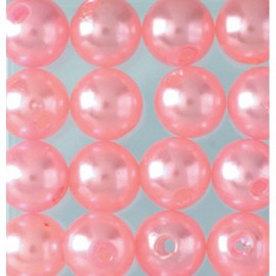 Wachsperlen, rosa, Ø 4mm, 100Stk.