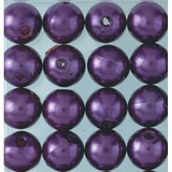 Wachsperlen, lila, Ø 4mm, 100Stk.