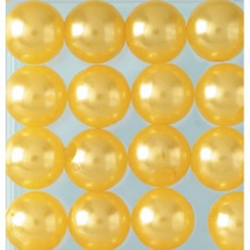 Wachsperlen, gelb, Ø 6mm, 60Stk.