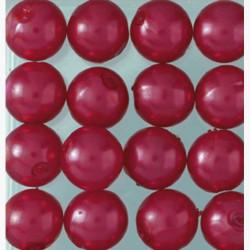 Wachsperlen, rot, Ø 6mm, 60Stk.