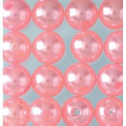 Wachsperlen, rosa, Ø 6mm, 60Stk.