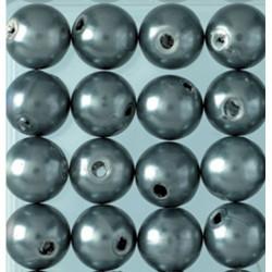 Wachsperlen, anthrazit, Ø 6mm, 60Stk.