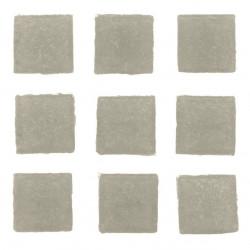 Mosaiksteine, 10x10mm, 100g, mittelgrau