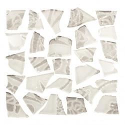 Retro-Mosaik, 100g, weiss-silber