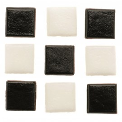 Mosaik Starter-Kit, 10mm, 200g, schwarz-weiss