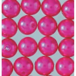Wachsperlen, pink, Ø 8mm, 32Stk.