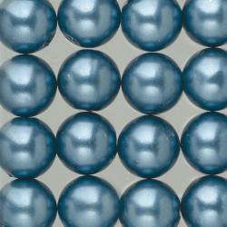 Wachsperlen, blau, Ø 8mm, 32Stk.