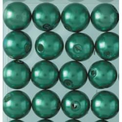 Wachsperlen, grün, Ø 8mm, 32Stk.