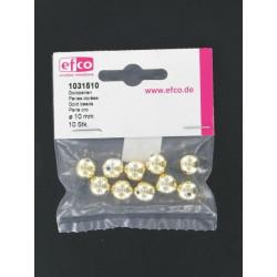 Goldperlen, Ø 10mm, 10Stk.