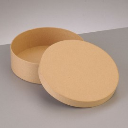 Kartonbox rund, Ø 12.5cm,  Höhe: 4cm