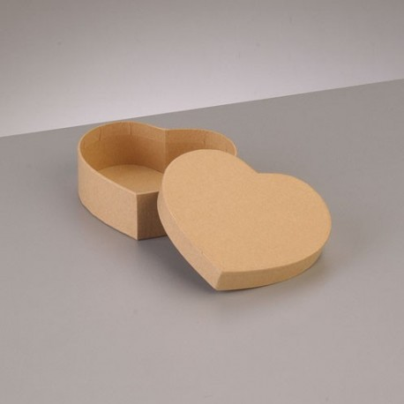 Kartonbox Herz, 10.5x9cm,  Höhe: 3.6cm