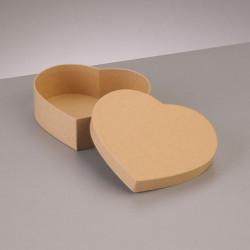 Kartonbox Herz, 6.5x6cm,  Höhe: 4.5cm