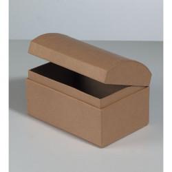 Kartonbox Schatztruhe, 12x8cm, Höhe: 7.5cm