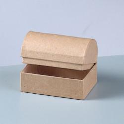 Kartonbox Schatztruhe, 8x5.5cm, Höhe: 5.5cm