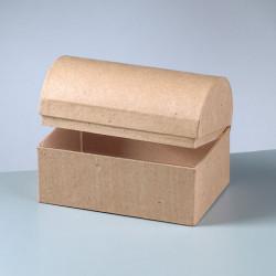 Kartonbox Schatztruhe, 15x10cm, Höhe: 10.5cm