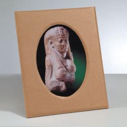 Kartonbilderrahmen, 25.5x20.5 / 17.5x12.5cm, ovaler Auschnitt