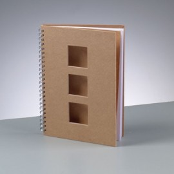 Notizbuch, A5, 21.5x15cm, Quadrate, 60 Blatt