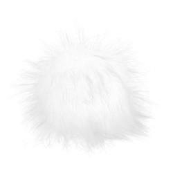 Pompon, 12cm, white snow