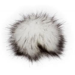 Pompon, 12cm, white black