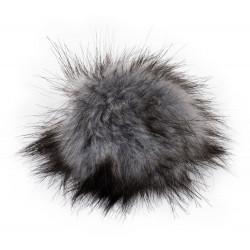 Pompon, 12cm, grey