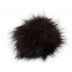 Pompon, 12cm, brown