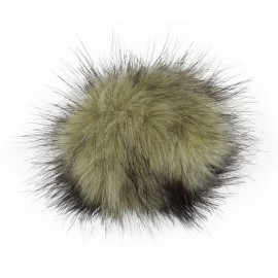 Pompon, 12cm, olive