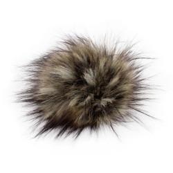 Pompon, 12cm, natural racoon