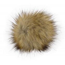 Pompon, 12cm, sand mel.