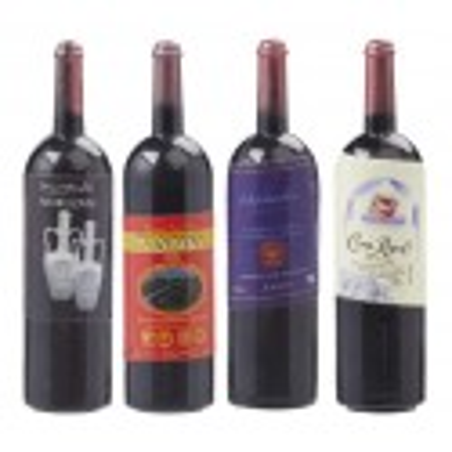 Wein-Flaschen, 4,5cm, 4 Stk. sortiert