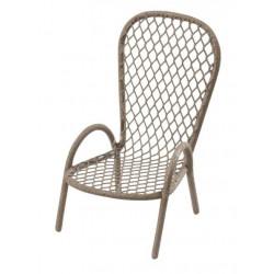 Stuhl-Metall, 6,5x3,5cm, braun