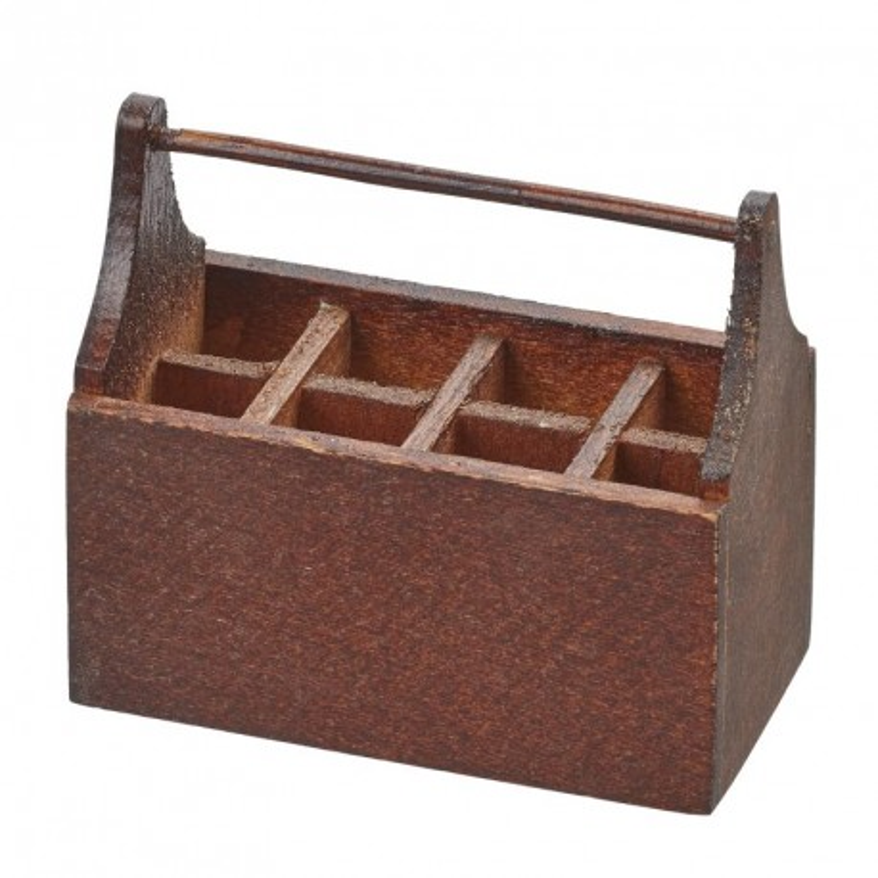 Werkzeugbox 4,5x2,4x4cm, braun