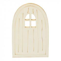 Holztür I, 6x9,5x0,3cm, natur