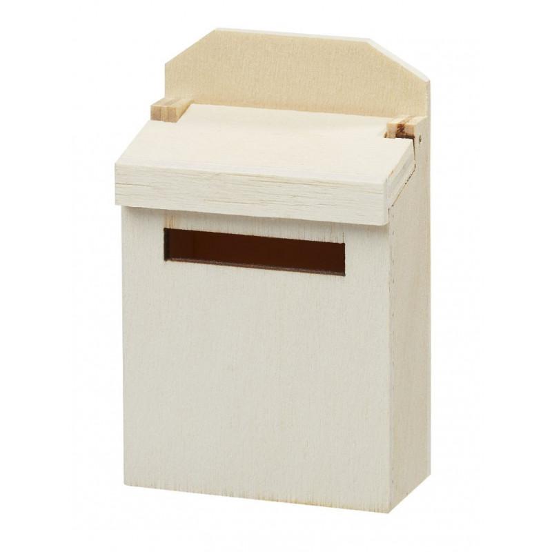 Briefkasten, 4,6x6,9x2,6cm, natur
