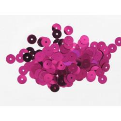 Pailletten rund, pink, Ø 6mm, 7g