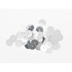 Pailletten rund, silber, Ø 10mm, 7g