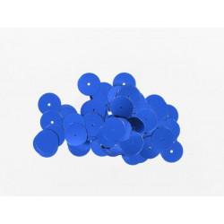 Pailletten rund, blau, Ø 15mm, 7g