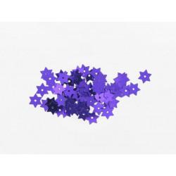 Stern Pailletten violett, Ø 8mm, 3g