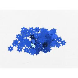 Stern Pailletten blau, Ø 8mm, 3g