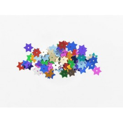 Stern Pailletten multi-color, Ø 15mm, 3g