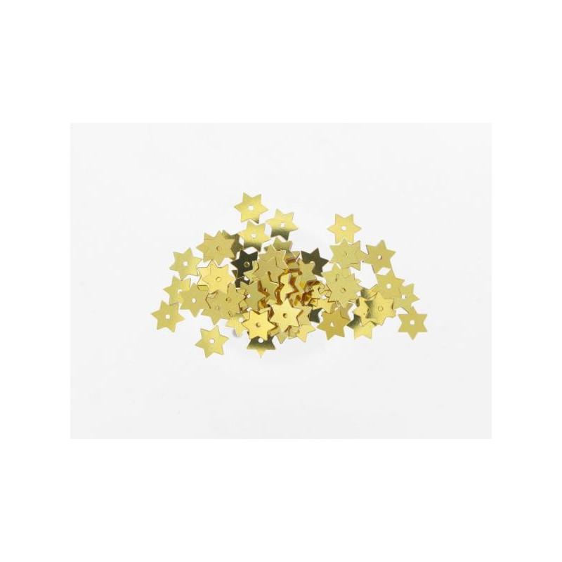 Stern Pailletten gold, Ø 15mm, 3g