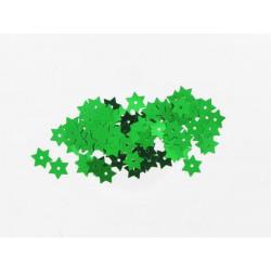 Stern Pailletten grün, Ø 15mm, 3g