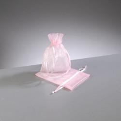 Organzabeutel, rosa, 7.5x10cm