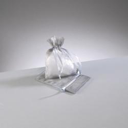 Organzabeutel, silbergrau, 7.5x10cm