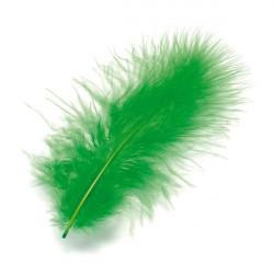 Marabufedern grün, Länge: ca. 10cm, 15Stk.